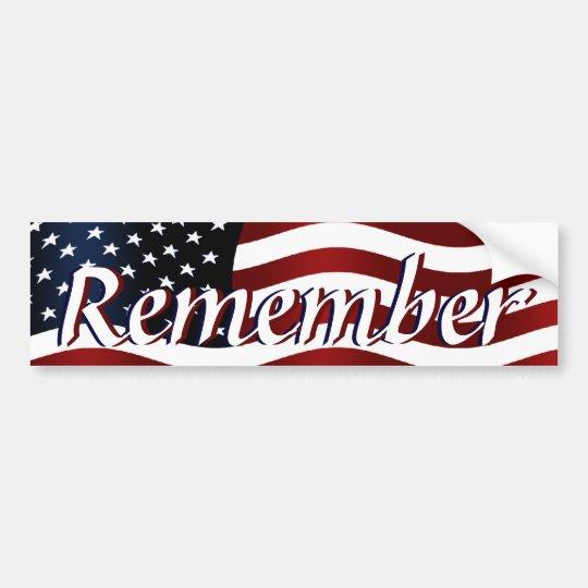 Remember America Bumper Sticker