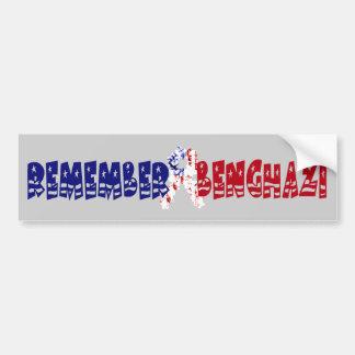 Remember Benghazi Bumper Sticker