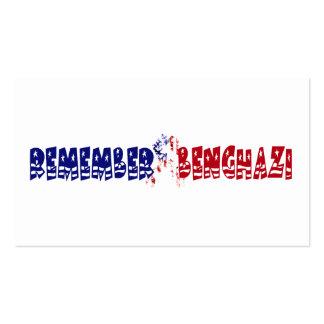 Remember Benghazi Business Card