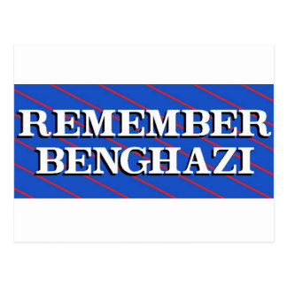 Remember Benghazi Postcard