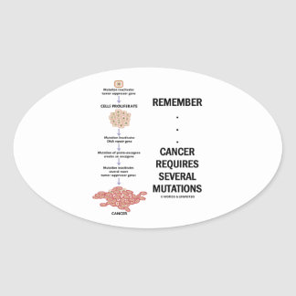 Remember...Cancer Requires Several Mutations Oval Sticker