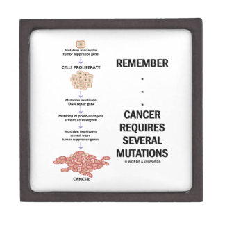 Remember...Cancer Requires Several Mutations Premium Trinket Box