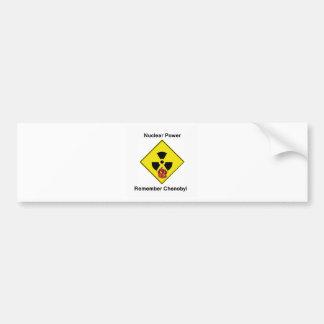 Remember Chenobyl Anti Nuclear Logo Car Bumper Sticker