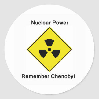 Remember Chenobyl Anti Nuclear Logo Classic Round Sticker