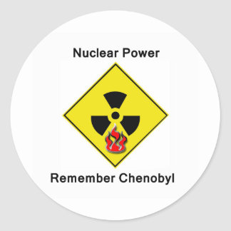 Remember Chenobyl Anti Nuclear Logo Classic Round Sticker