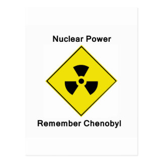 Remember Chenobyl Anti Nuclear Logo Postcard