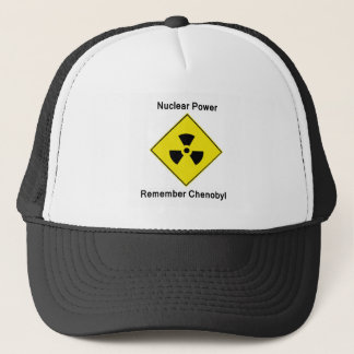 Remember Chenobyl Anti Nuclear Logo Trucker Hat