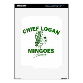 Remember Chief Logan High School iPad 3 Decals