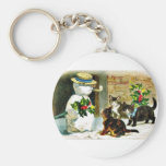 Remember Christmas Basic Round Button Keychain