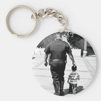 Remember Cops Care Basic Round Button Keychain