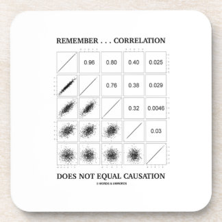 Remember ... Correlation Does Not Equal Causation Coaster