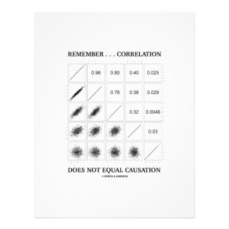 Remember ... Correlation Does Not Equal Causation Letterhead