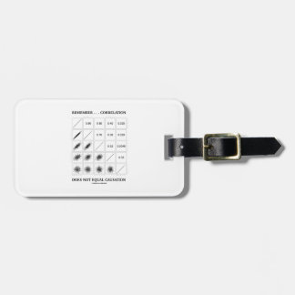 Remember Correlation Does Not Equal Causation Luggage Tag