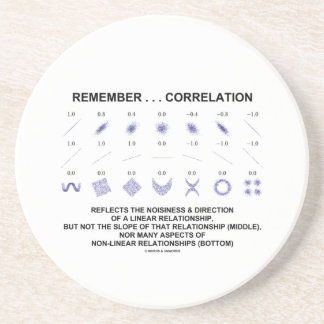 Remember Correlation Reflects Linear Relationship Drink Coaster