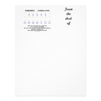Remember Correlation Reflects Linear Relationship Letterhead