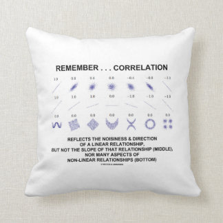 Remember Correlation Reflects Linear Relationship Pillow