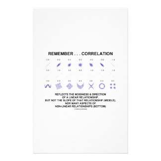 Remember Correlation Reflects Linear Relationship Stationery