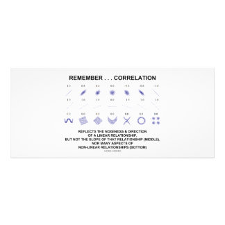 Remember Correlation Reflects (Stats Attitude) Rack Card Template