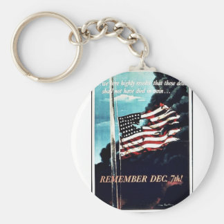 Remember Dec 7th Keychains