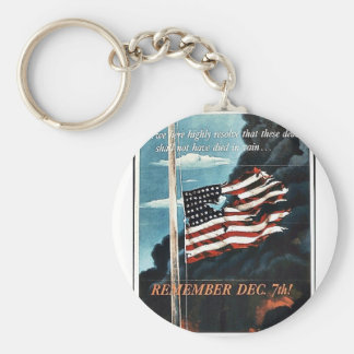 Remember Dec. 7th! Key Chains