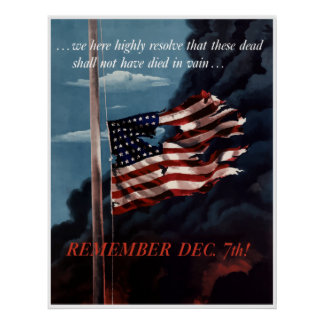 Remember December 7th -- Border Poster