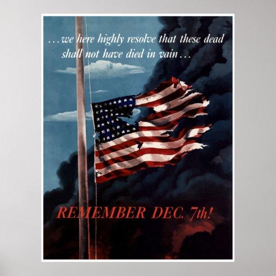 Remember December 7th -- Border Poster