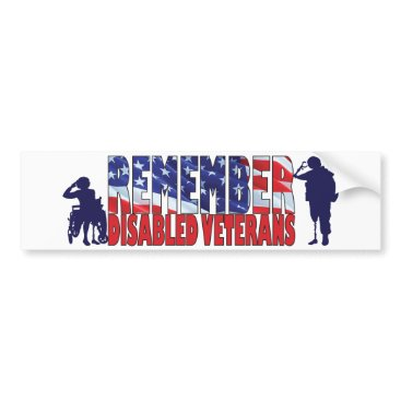 REMEMBER Disabled Veterans Bumper Sticker