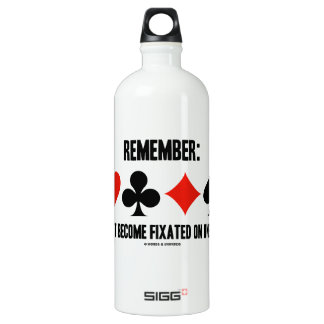 Remember: Do Not Become Fixated On One Suit Aluminum Water Bottle
