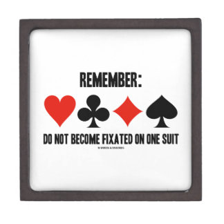 Remember: Do Not Become Fixated On One Suit Jewelry Box