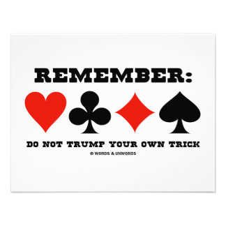 Remember Do Not Trump Your Own Trick Bridge Announcements