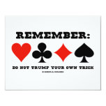 Remember: Do Not Trump Your Own Trick (Bridge) Announcements