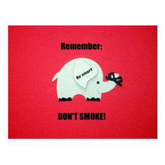 Remember: Don't Smoke! Postcard