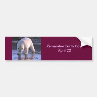 Remember Earth Day / April 22 Bumper Sticker