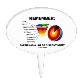 Remember: Earth Has A Lot Of Discontinuity Cake Topper