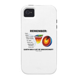 Remember: Earth Has A Lot Of Discontinuity iPhone 4 Cases