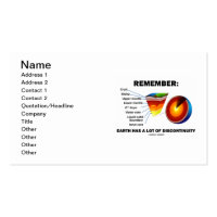 Remember: Earth Has A Lot Of Discontinuity Double-Sided Standard Business Cards (Pack Of 100)
