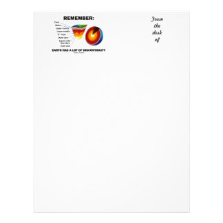 Remember: Earth Has A Lot Of Discontinuity Letterhead