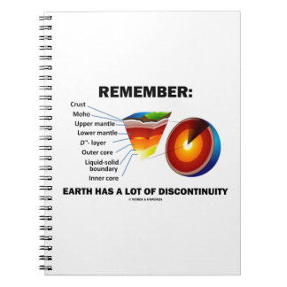 Remember: Earth Has A Lot Of Discontinuity Notebook