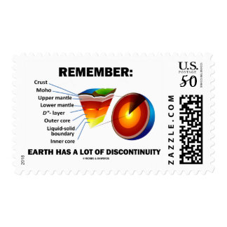 Remember: Earth Has A Lot Of Discontinuity Postage