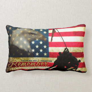 Remember... Fallen but not forgotten Memorial Lumbar Pillow