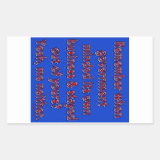 Remember Government Minded Rectangular Sticker