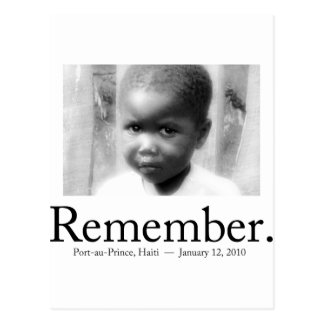 Remember Haiti Children Postcard