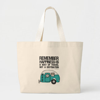 remember happiness jumbo tote bag