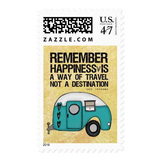 remember happiness postage stamp
