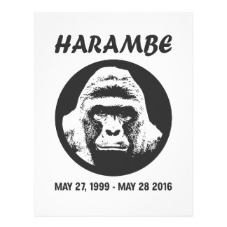 Remember Harambe Letterhead