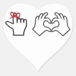 Remember I love you Heart Sticker