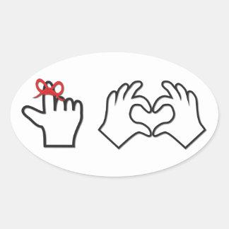 Remember I love you Oval Sticker