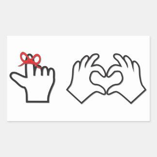 Remember I love you Rectangular Sticker