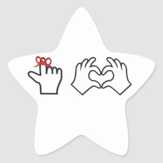 Remember I love you Star Sticker
