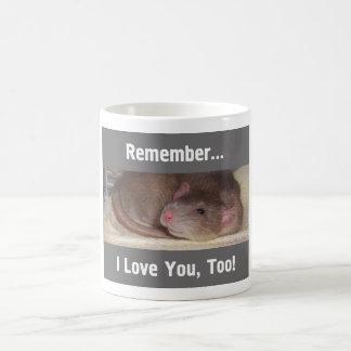 Remember... I Love You, Too! Classic White Coffee Mug